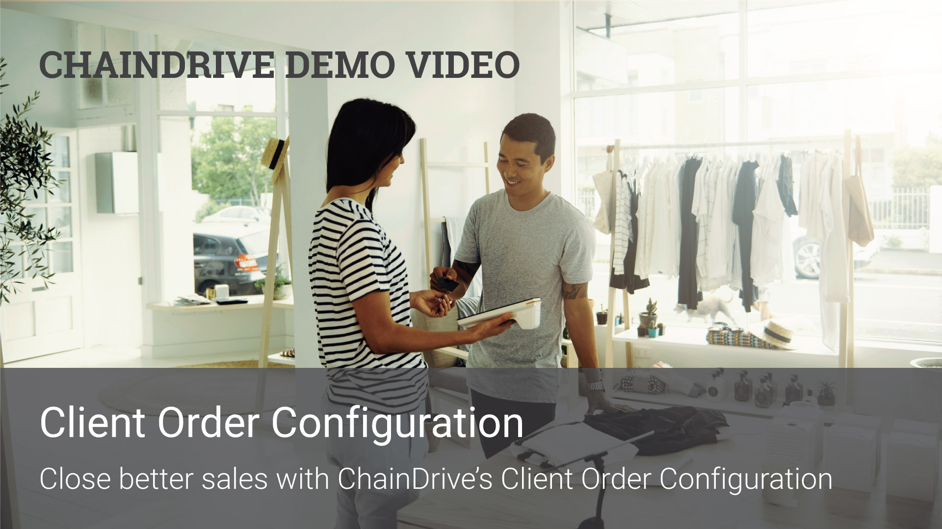 Retail Recources - ChainDrive POS Client Order Configuration Demo Video