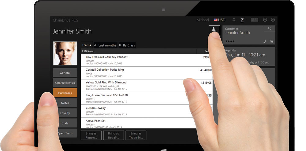 ChainDrive Mobile POS - Point of Sale Software on a Tablet
