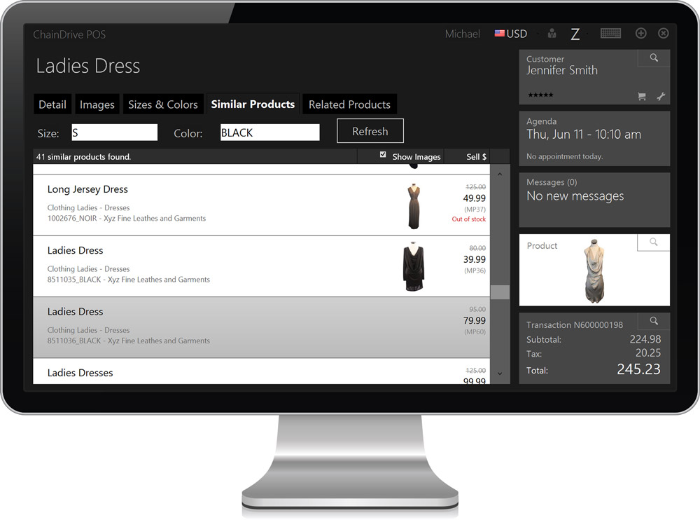 POS Product Management/Inventory control and look-up